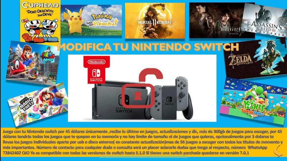 Modifica Tu Nintendo Switch