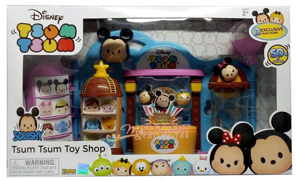 Disney Tsum Tsum Playset Toy Shop 2 Figuras