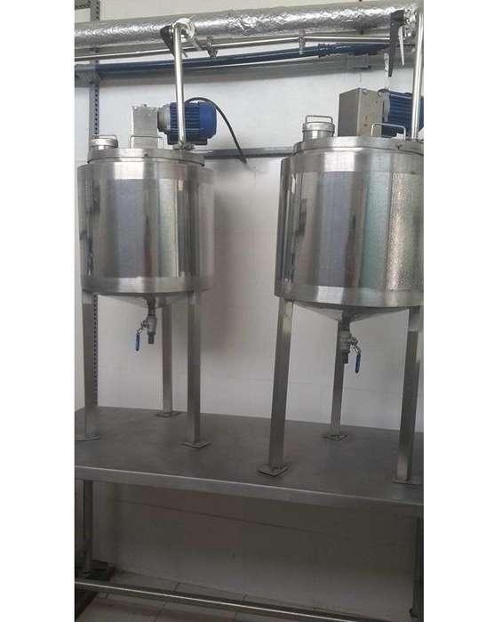 Mescladoras de productos doble pared y mesa reforzada en acero inoxidable