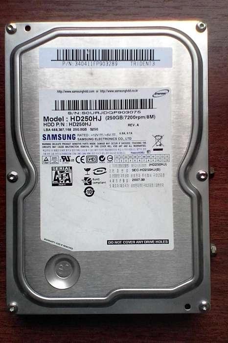 Disco duro Sata Samsung 250gb