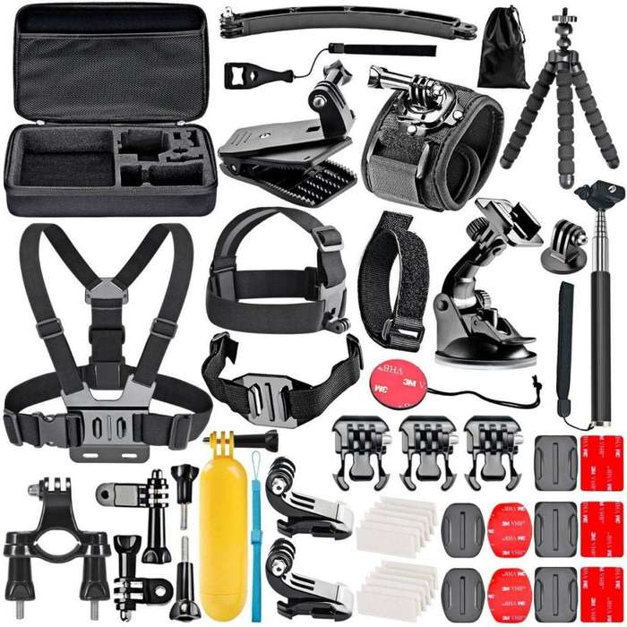 Kit 50 <strong>accesorios</strong> Para Cámara Gopro Hero 7 6 5 4 3 O Session