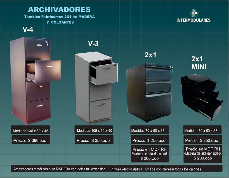<strong>archivadores</strong> Metalicos y madera