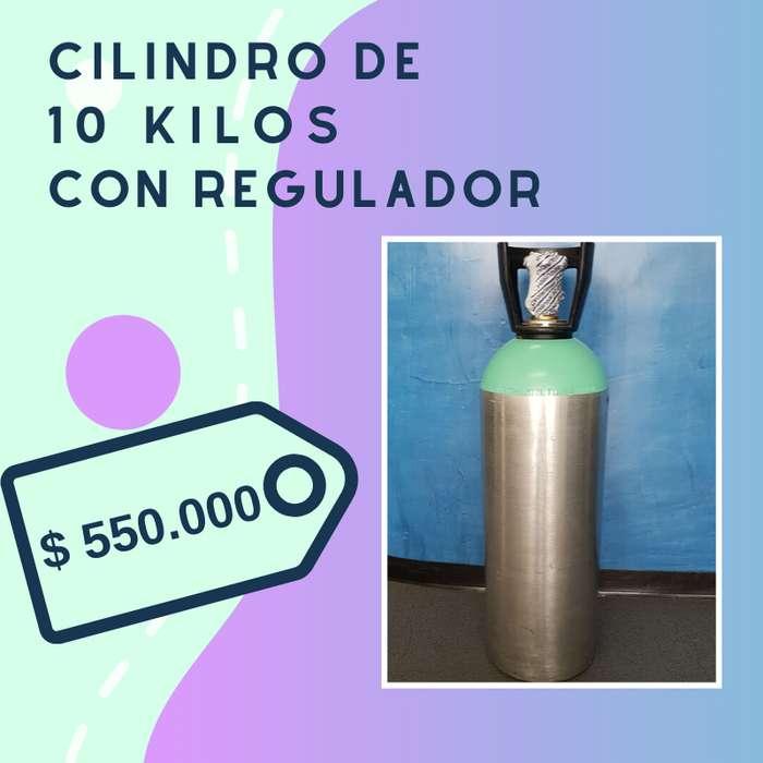 VENTA DE CILINDRO PARA DIOXIDO DE CARBONO CAP 10 KILOS CON REGULDOR