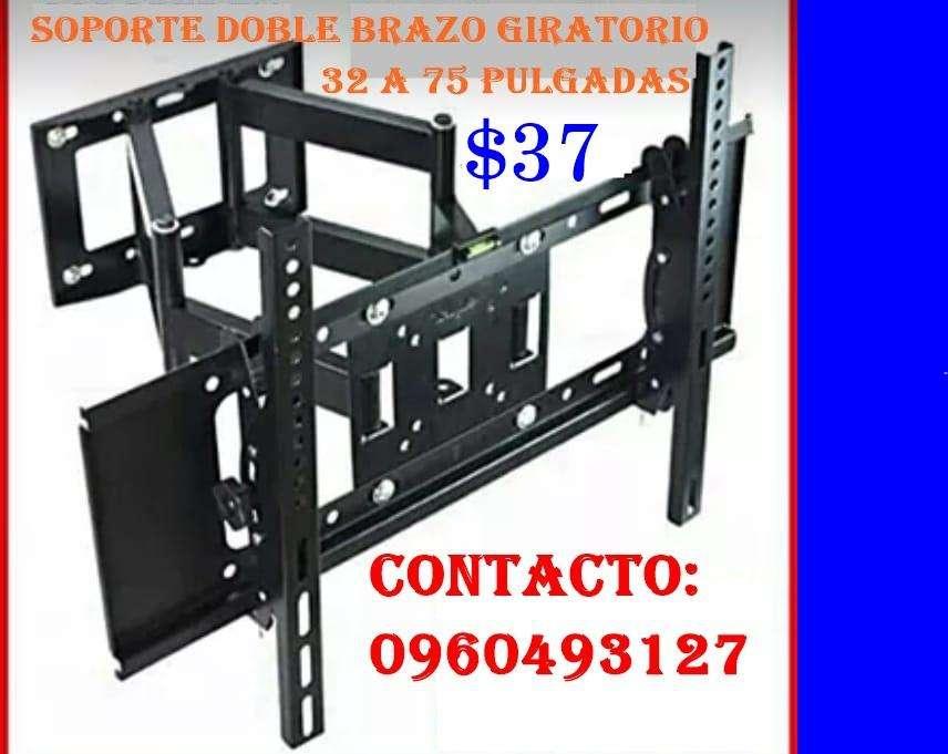 "Soporte giratorio Doble Brazo DE 32"" – 75"" a 37usd"