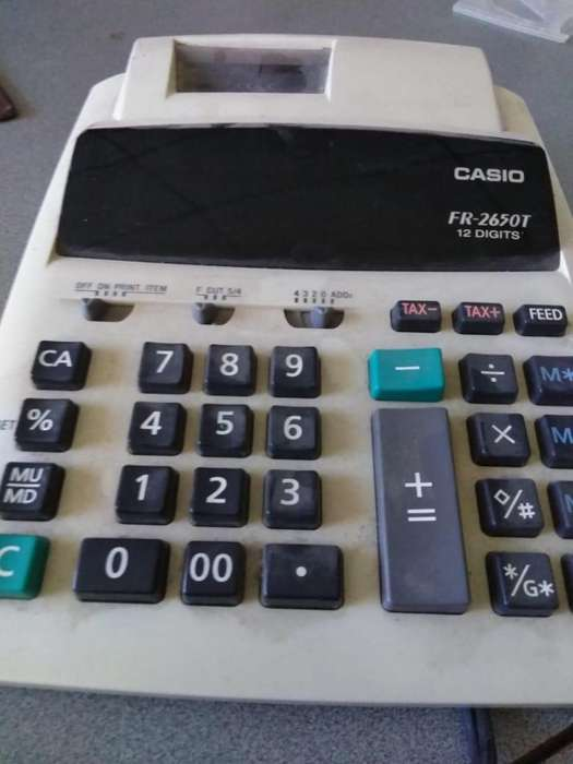Vendo <strong>calculadora</strong> Casio Fr-2650t 12 Digitos Con Impresora