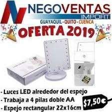 ESPEJO LED COSMETICO MAKE UP MODELO RECTANGULAR LED