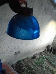 Luces plafones azules de acrilico con portalampara