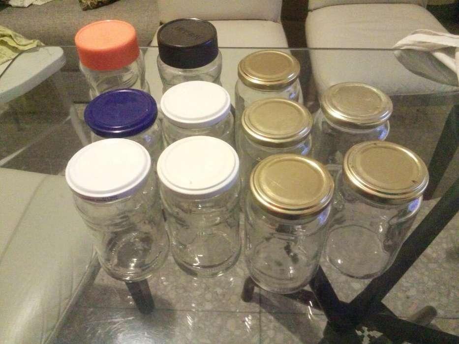 Frascos de Vidrio 11 Unidades