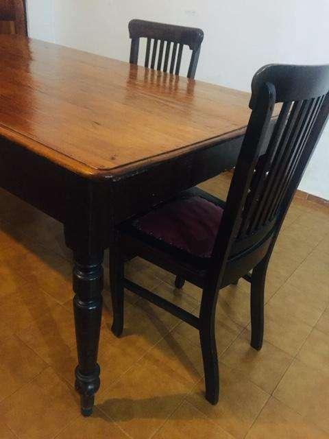 mesa de madera maciza 6 <strong>silla</strong>s