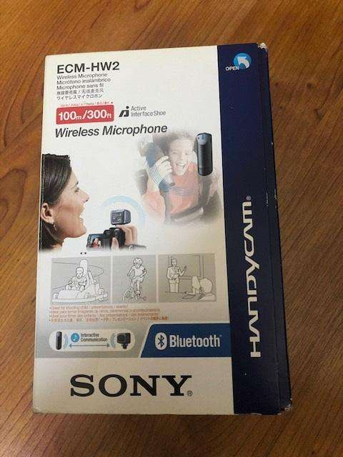 Micrófono inalámbrico para filmadoras