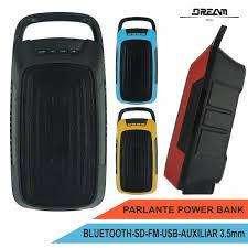 Parlante Con Power Bank <strong>bluetooth</strong>, Usb, Sd, Fm, Auxiliar 3.5