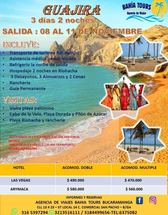 Tour Guajira Noviembre 08 Al 11