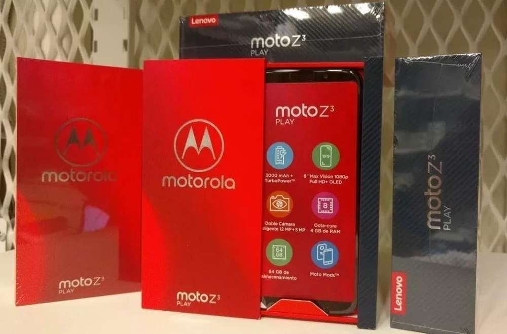 Moto Z3 Play, 64gb O 128gb, Octa Core, Cam Dual 12mpx 5mpx, Frontal 8mpx, con 2 Motomods