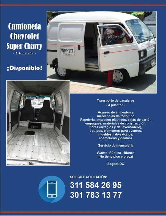 Servicio de Transporte, carga y acarreos