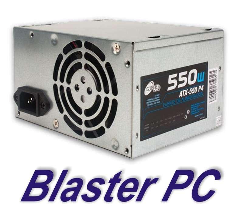 Fuente Pc Atx Noga 550wts 32 Amper en 12v Zona Alto Rosario BLASTER PC