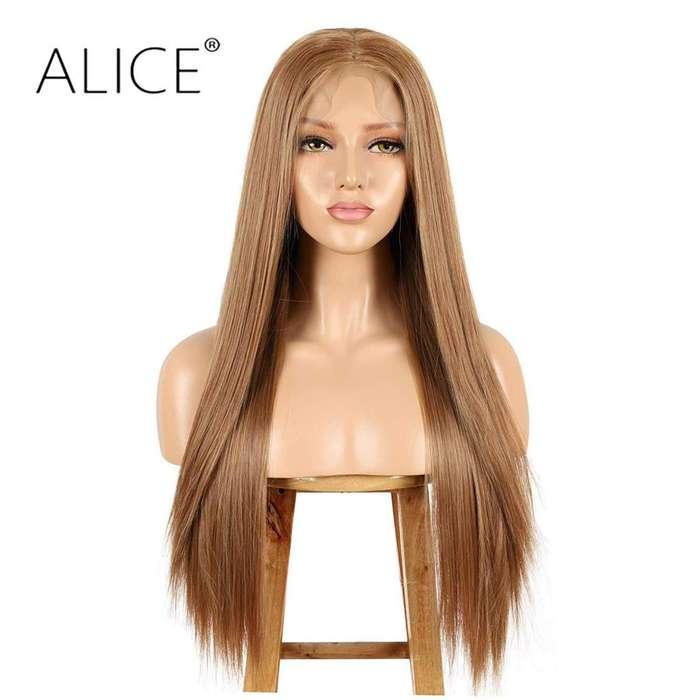 Espectaculares pelucas indetectables cabello natural sintético importadas
