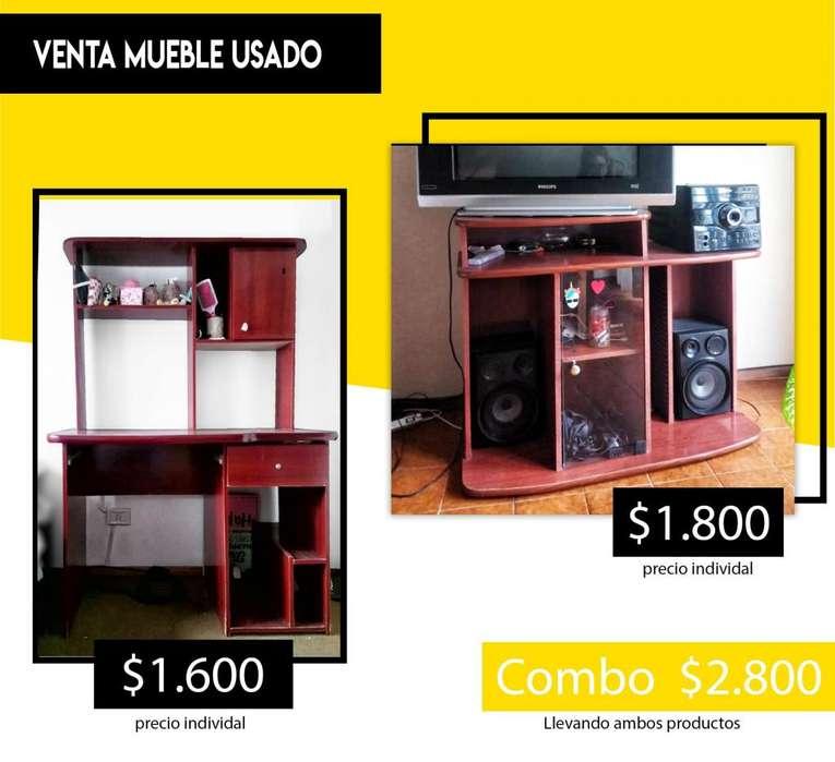 Mueble usado - <strong>escritorio</strong> y/o mesa de televisor.