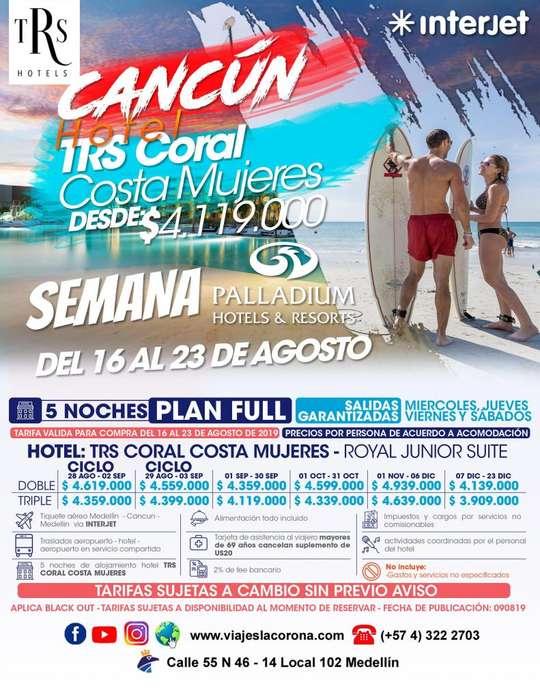 Viaje como un Rey a Cancún con Viajes la Corona