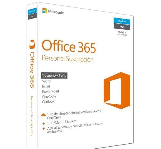 Office 365 Personal Suscripcion 1 Usuario 1 Año Físico
