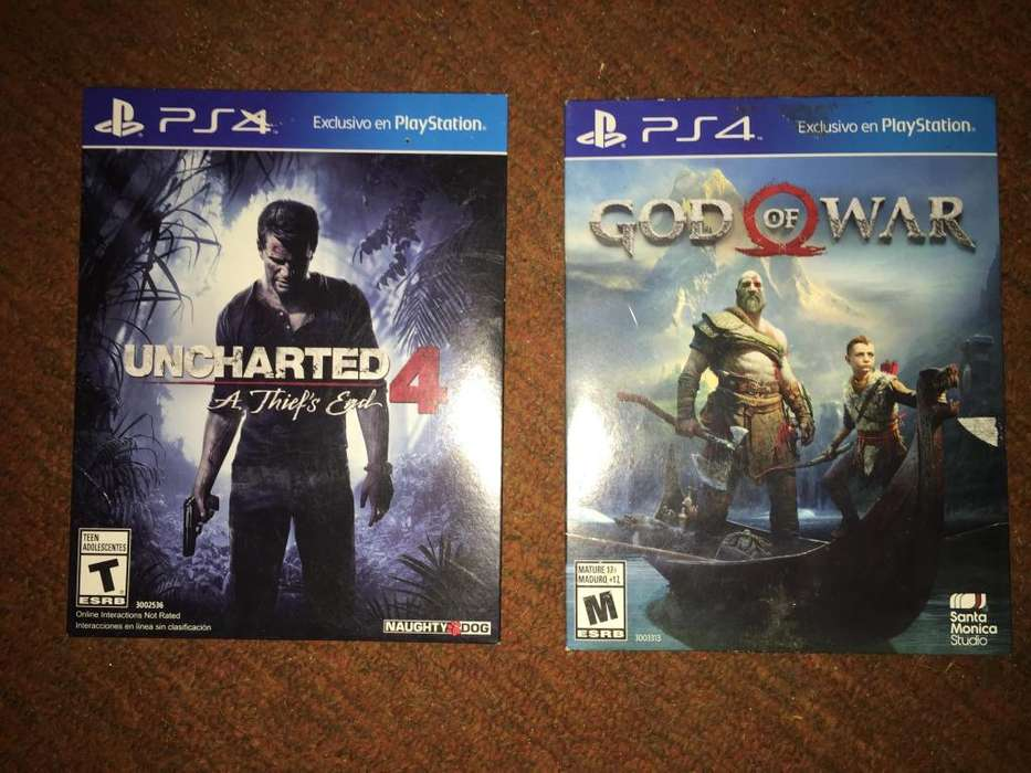 GOW y Uncharted 4 PS4