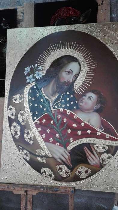 Pintura San Jose Y Niño Jesus