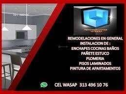 ENCHAPES BAÑOS COCINAS WASAP 313 496 10 76