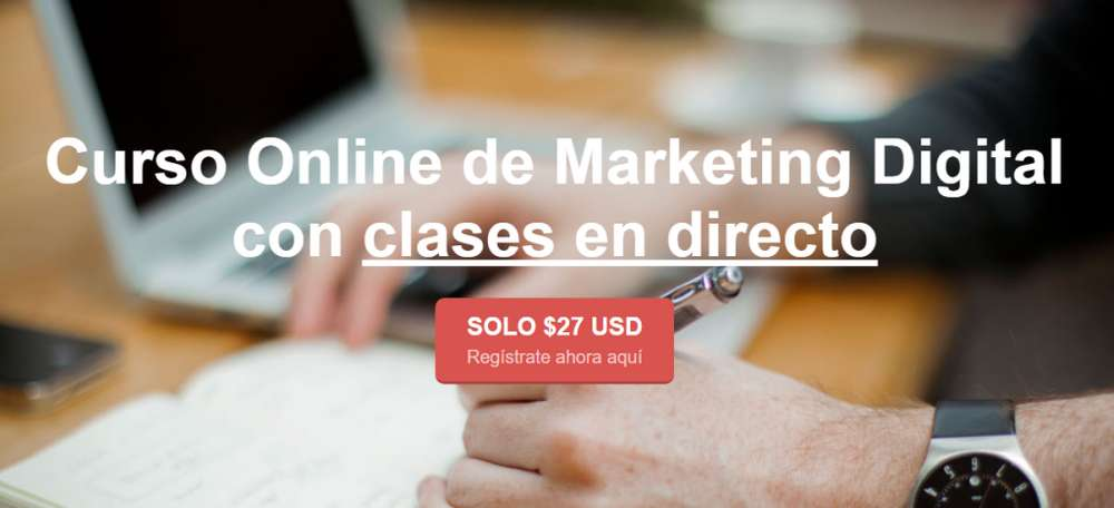 Curso Online de Marketing Digital ¡a mitad de precio!