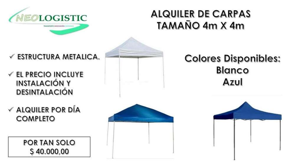 CARPAS Y / O TOLDOS A LA <strong>venta</strong>