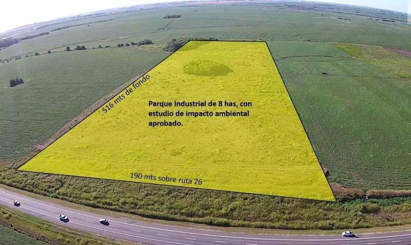 Lote de 8 hectareas. Con parque industrial aprobado