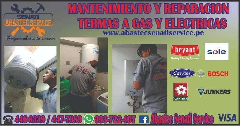 Servicio técnico de Termas a gas y eléctricas, Termotanques y Estufas a gas Telf: 345-8776 / 993722407