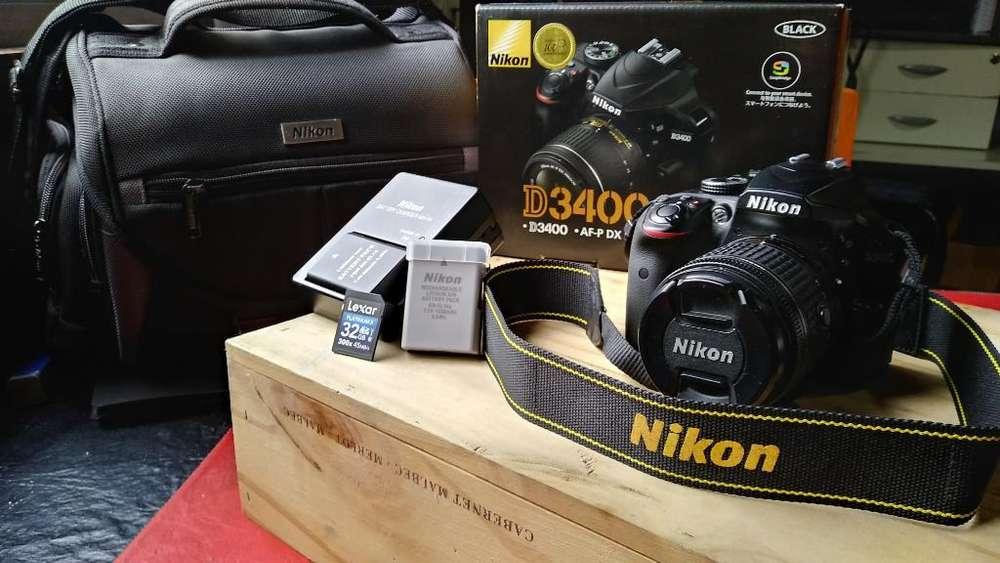 Camara Nikon D3400 Bolso