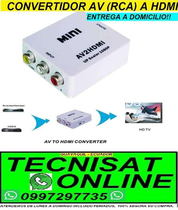 CONVERTIDOR ANALOGICO DE AV RCA A HDMI DIGITAL PARA TODO TV PLAY STATION, DVD, ETC