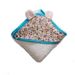 Toalla con capucha y orejitas para bebes de 0 a 2 años