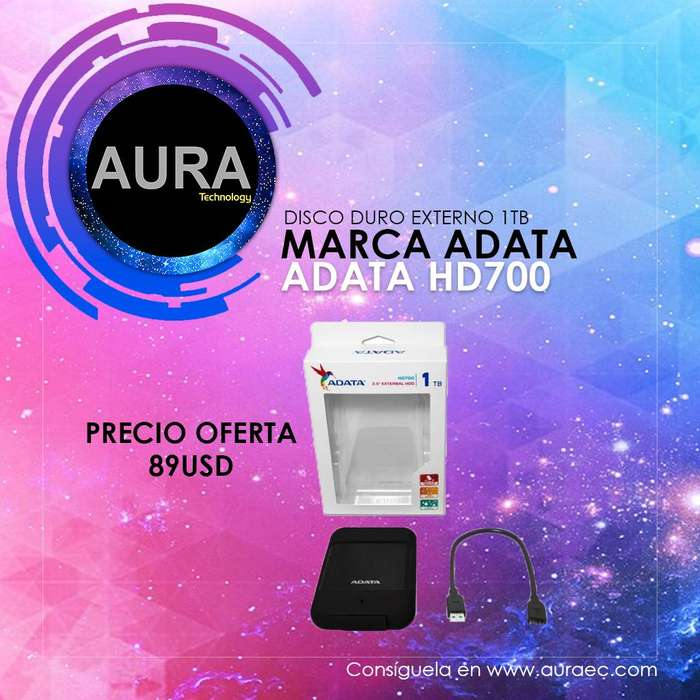 Disco Duro EXterno Marca Adata 1tb