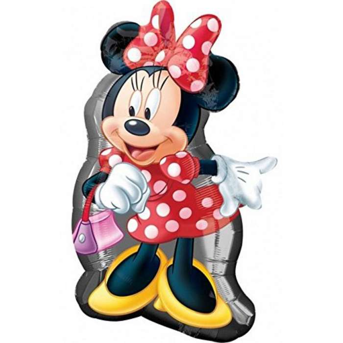 Globo Metalico Minnie Mouse Miny Grande