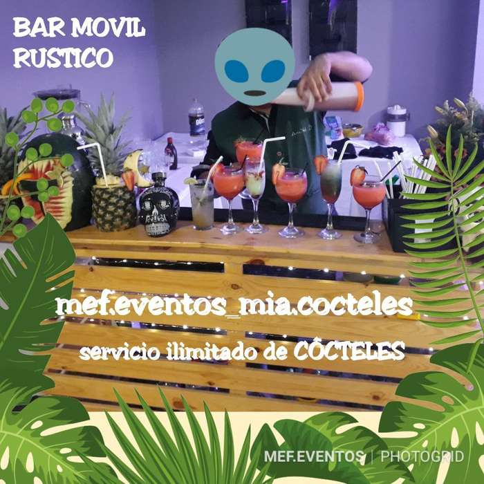 Mef.eventos Alquiler de Bar Movil Palet
