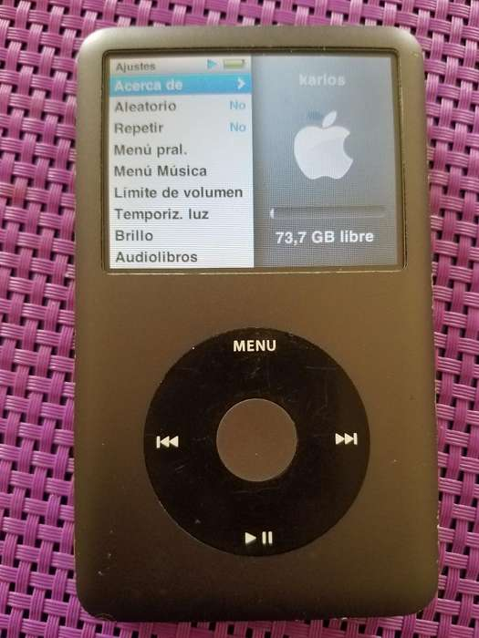 <strong>ipod</strong> Clasic 7g de 80gb