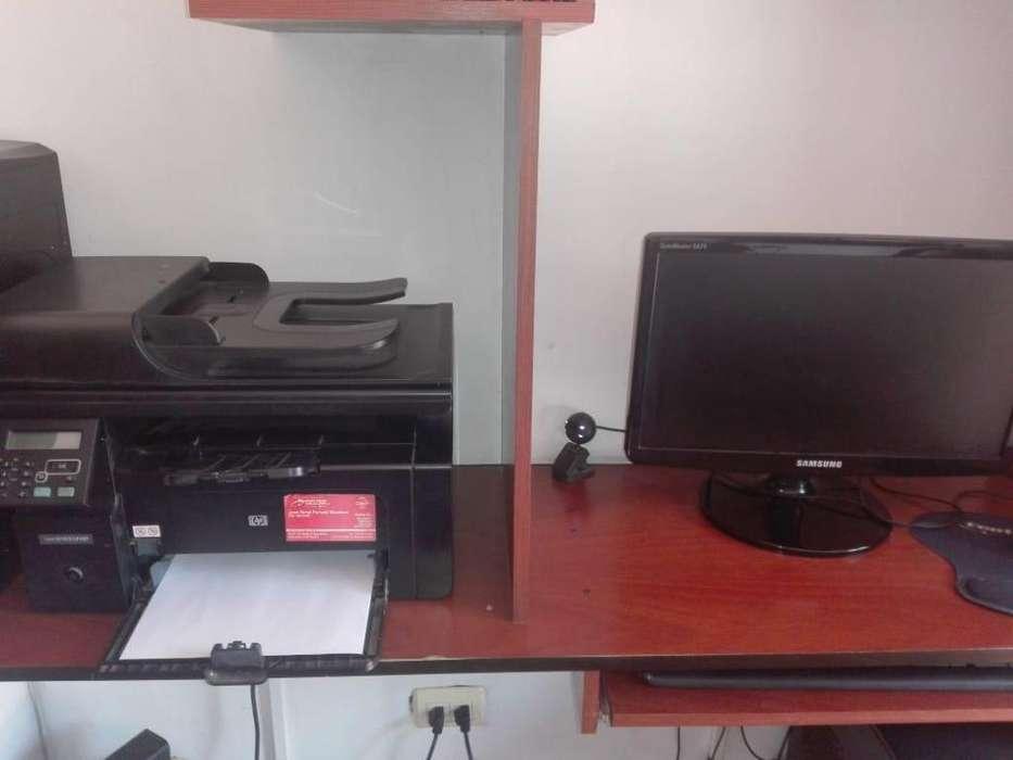 computador de escritorio impresora hp laser jet