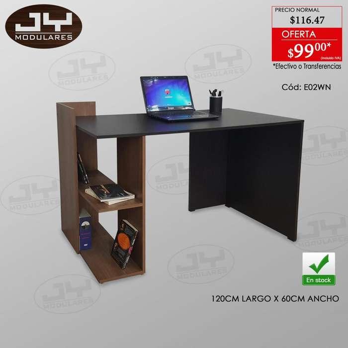 Escritorios Modernos combinados, minimalistas con librero muebles JY modulares mesa pc o laptop promoción