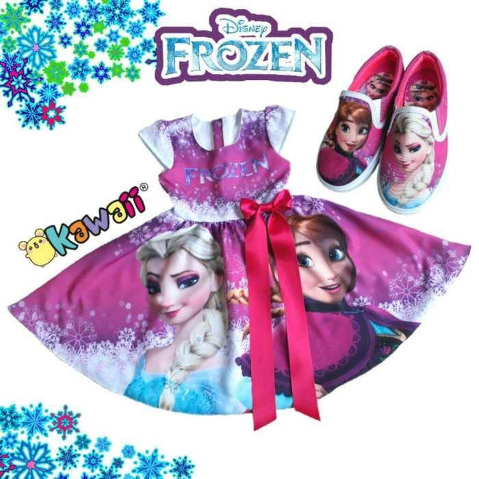 Vestido Y Zapatos Frozen