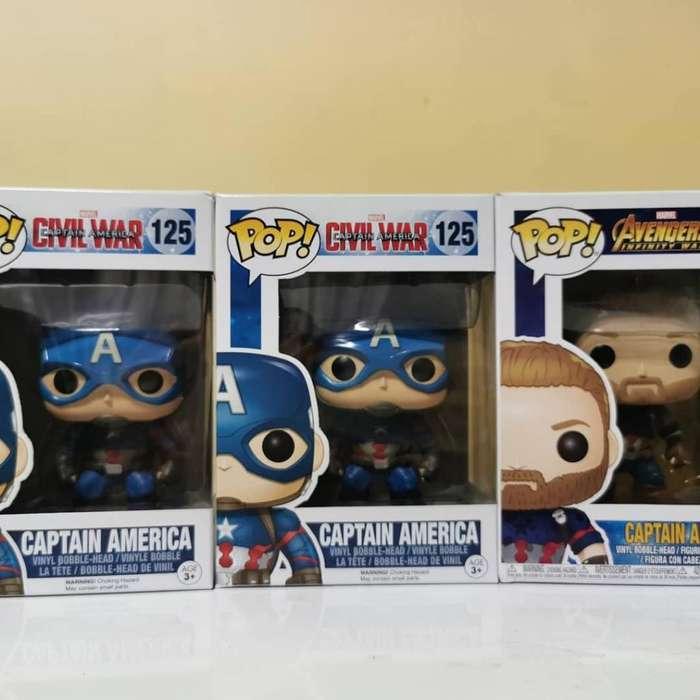 Funko Pop Marvel, Iron man, Thor, Capitan America, Batman