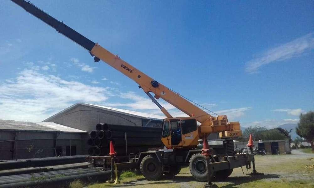 Se alquila Grua Telescopica 4x4 30 toneladas