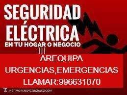 ELECTRICISTA A TODA AREQUIPA ATENDEMOS URGENCIAS AL MOMENTO.CEL:996631070,CORTOCIRCUITOS,DUCHAS,Y POZOS A TIERRA