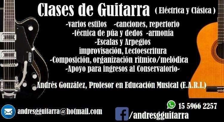 Clases de Guitarra en QUILMES!