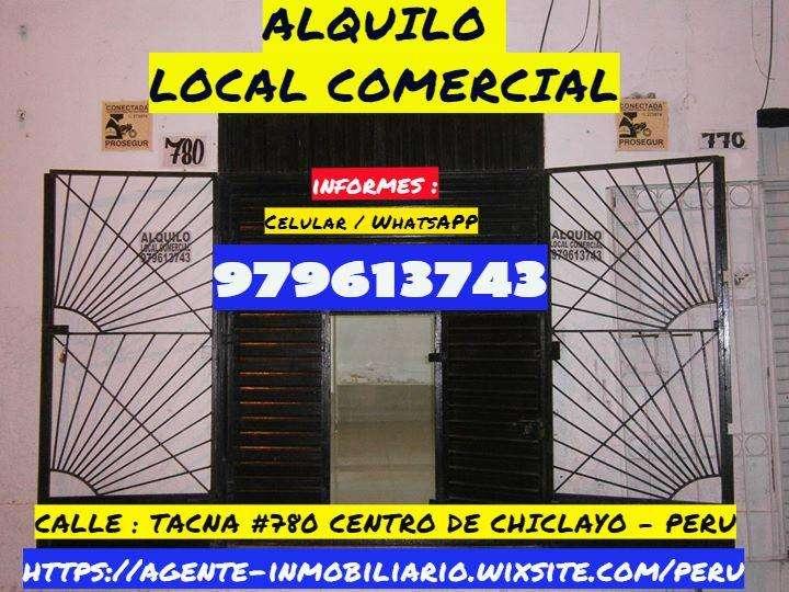 ALQUILO LOCAL COMERCIAL UBICADO EN PLENO CENTRO DE #CHICLAYO PERU