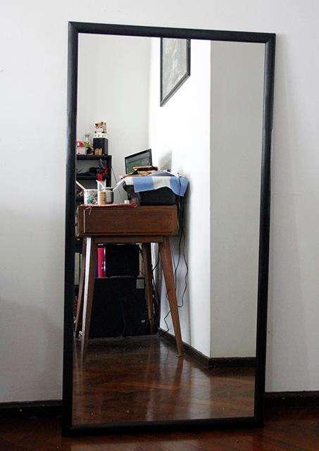 Espejo con Marco 1.20x60 Blanco