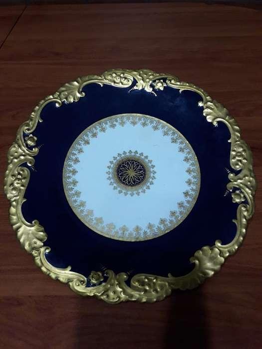 Platos Decorativos Cobalto Oro Copeland