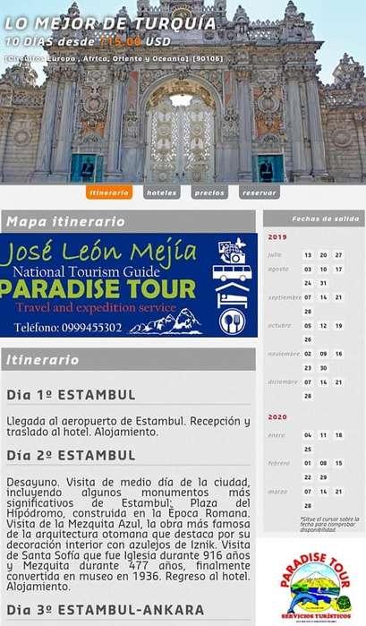 LOS MEJORES DESTINOS TURÍSTICOS DENTRO & FUERA DEL PAÍS. *PARADISE TOUR*