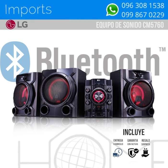 EQUIPO DE SONIDO / LG / 13.200W / NEGRO CON ROJO / <strong>karaoke</strong> / BLUETOOTH