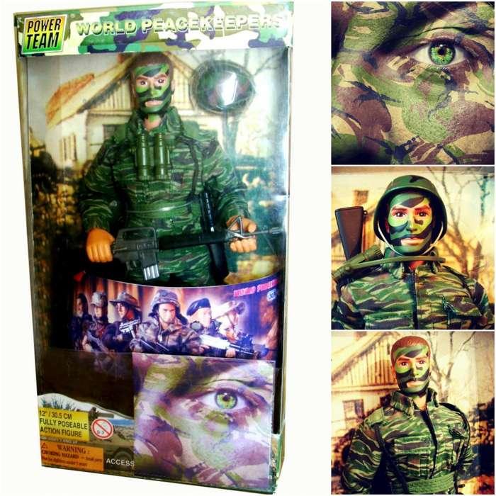 Soldado Figura World Peacekeepers Articulado Deluxe 1997